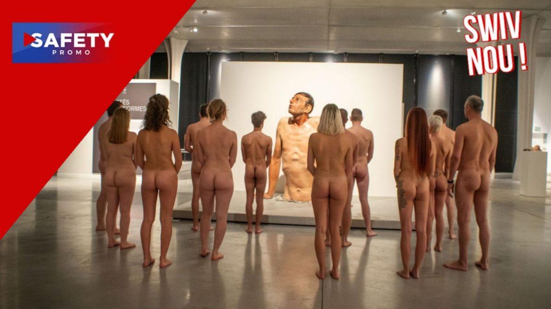 À Bruxelles, une exposition propose des visites nues ou habillées