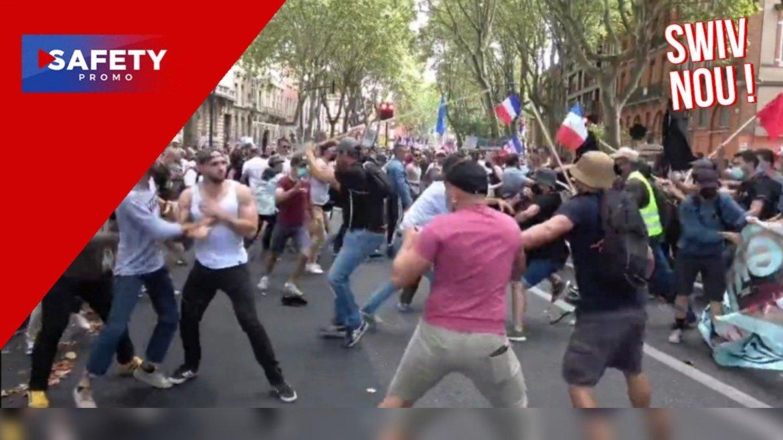 Manifestations anti-pass sanitaire : à Toulouse, des Gilets jaunes frappés à coups de barres