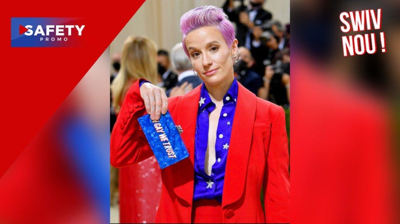 Megan Rapinoe remplace «Dieu» par «Gay» pour la tenue du gala du Met