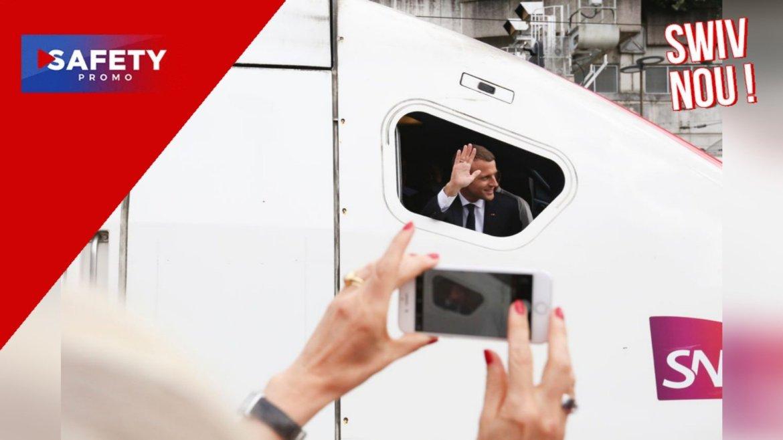 Emmanuel Macron inaugure le nouveau TGV