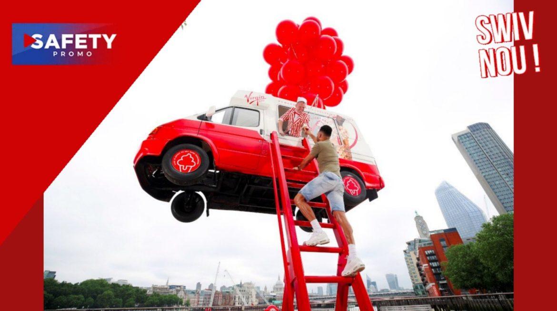 Vous ne rêvez pas, ce camion de glaces vole en plein milieu de Londres