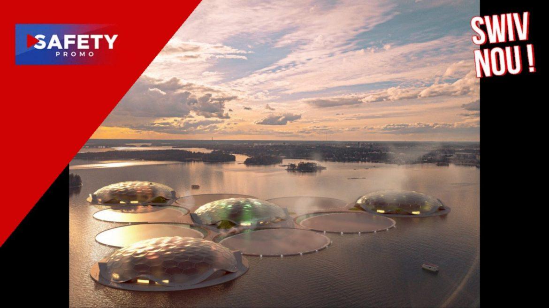 En Finlande, ces iles flottantes serviront bientôt à climatiser les villes