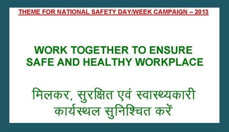india national safety week