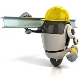 3d robot construction worker