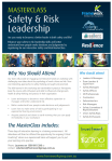 Safety and Risk Leadership Master Class