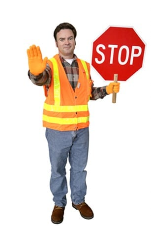 Crossing Guard Full Body Isolated