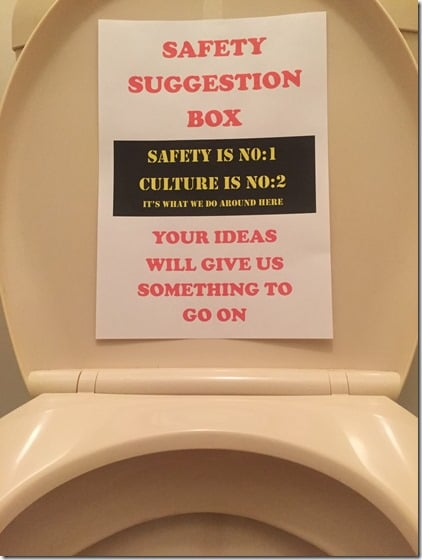 Safety Suggestion Box