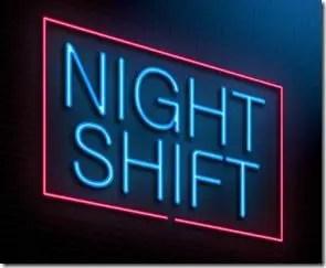 Night shift concept.