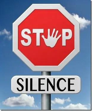 stop silence