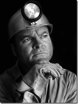 Coal Miner - Portrait BW