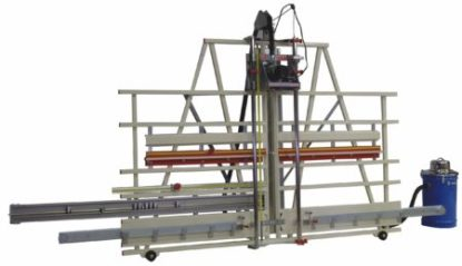 industrial horizontal router for rabbets and dado's