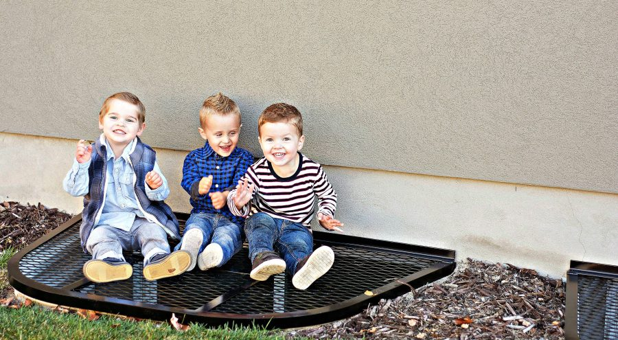 Safewell Window Well Covers in Utah - Young Boys Safe on Window Cover