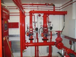 Firefighting system installation