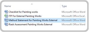 Method Statement Painting Works External