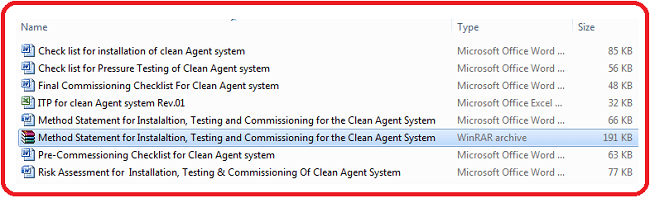 Testing and Commissioning for the Clean Agent System