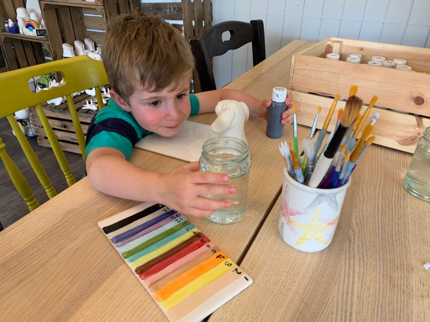 Family day out at Canny Crafty pottery studio