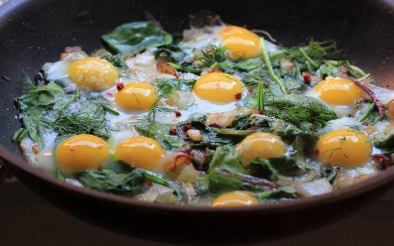 Quail egg frittata