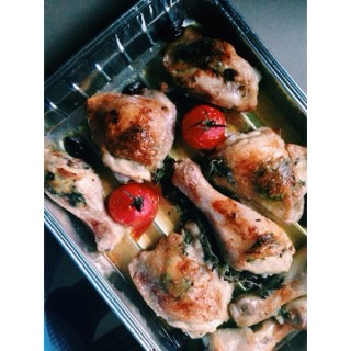 Simple suppers: Greek style roast chicken + this week on s&h