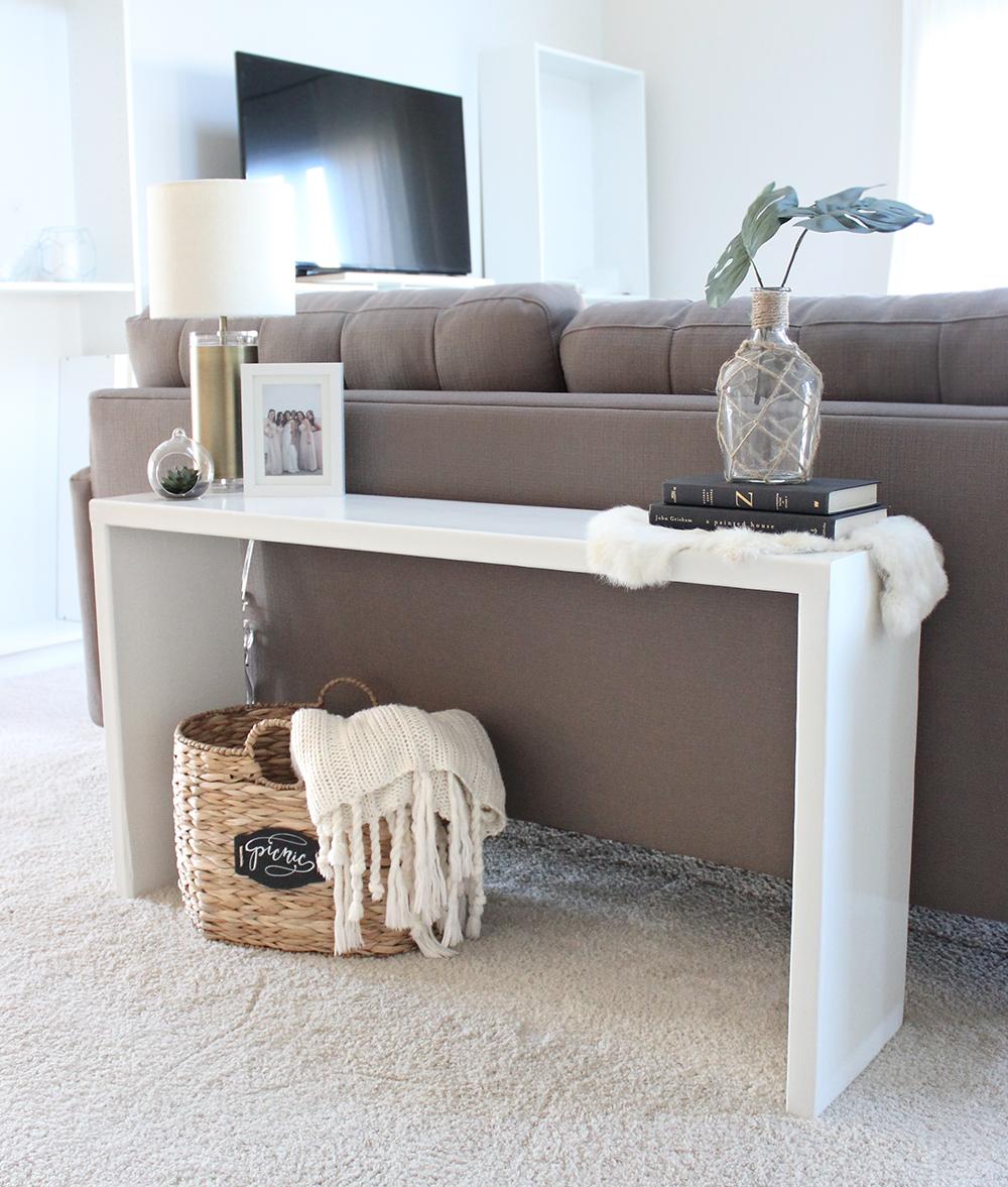 Diy Wood Console Table Saffron Avenue