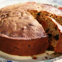 Chunky fig, apricot and prune cake