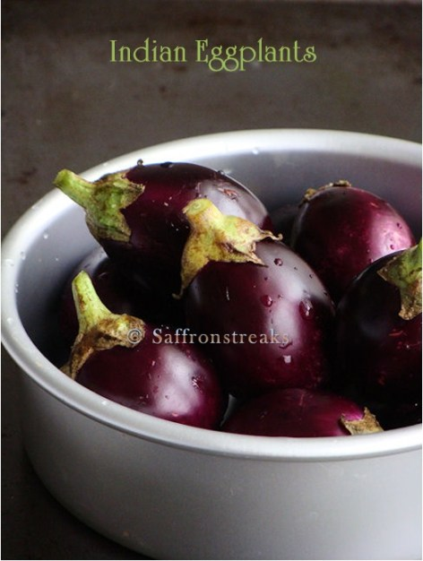 purple small eggplants