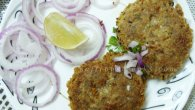 Shami kabab or kebab was introduced to India by the Mughals and later it becomes synonymous with the Awadhi cuisine. It is also known as Syrian kabab. Ingredients: Minced meat (lamb): 600g Bengal gram (channadal): 150gm Garlic cloves: 5-6 Ginger (chopped): 1tsp Cumin seeds: 1tsp Cloves: 3-4 Cinnamon: 1″stick Cardamom: 5-6 Black peppercorns: 4-5 Onions (finely chopped): 2tbsp Green chilies (finely chopped): 1tsp Coriander leaves (finely chopped): 1tsp Egg (whipped): 1 Oil for shallow frying Salt to taste Method to […]