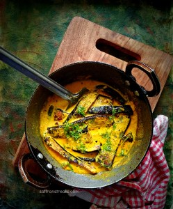 bengali begun basanti eggplant curry