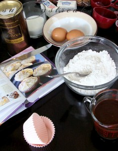 ingredients for cupcake