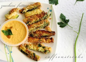 zucchini fritters or fries