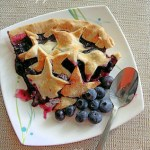 blueberry pie in autumn