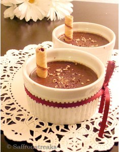 chocolate hazelnut baked custard