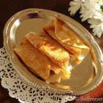 Pithe patishapta for Sankranti or rice crepes with coconut filling