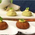 Herbed falafel in rich almond sauce – an Indian twist