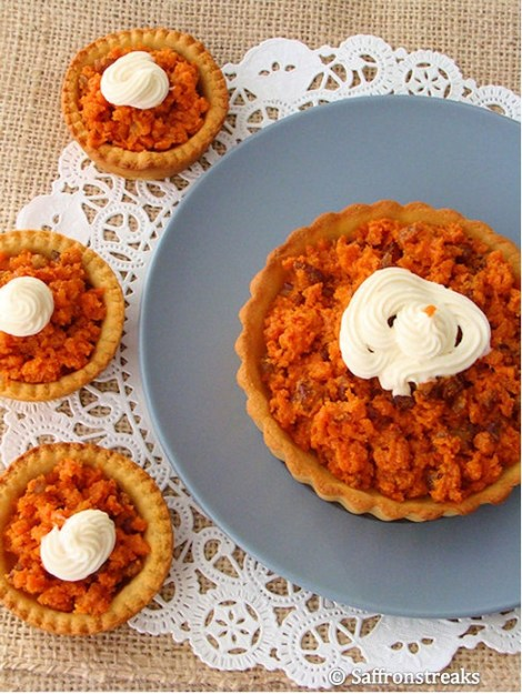 carrot almond tart