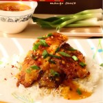 Chili-spiked tilapia dunked in zesty mango sauce – Asian inspired