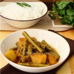 Sajne data chorchori / drumsticks with vegetables in Bengali style