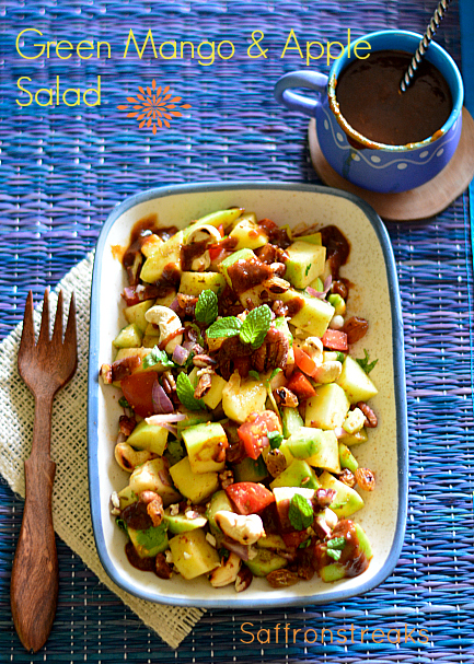 green mango apple salad