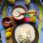 Dudh puli pithe / rice dumplings stuffed with sweetened coconut – Sankranti special