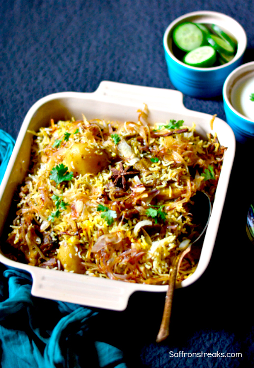 awadhi mutton gosht biryani recipe