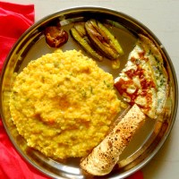 Bengali masoor dal (red lentils) khichdi / khichuri - for rainy days