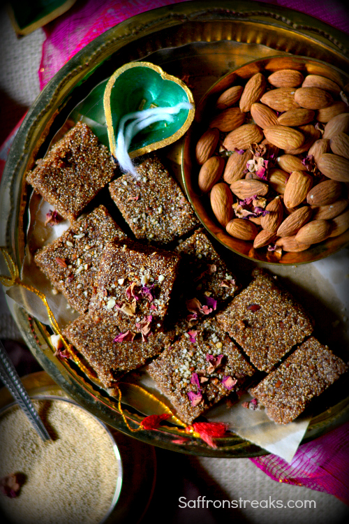 rajgiro barfi chikki indian