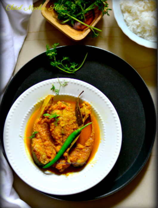chitol macher kalia bengali fish curry