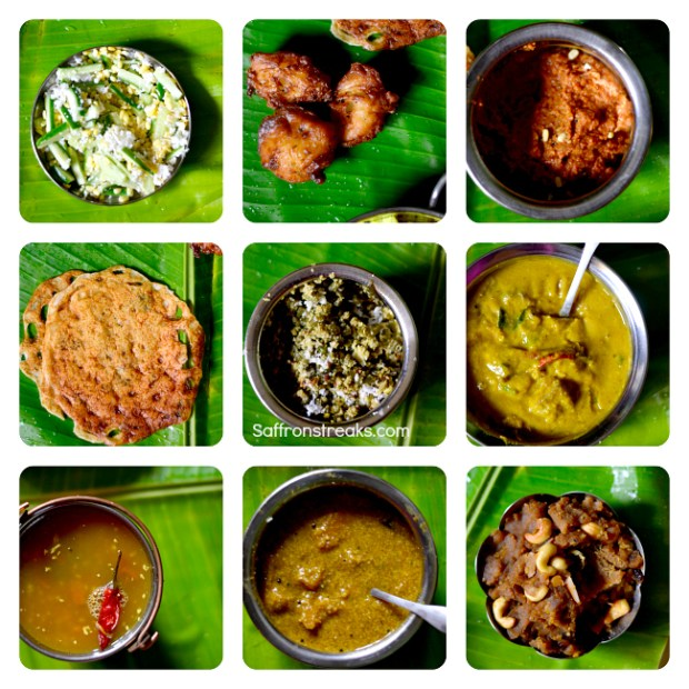 south indian lunch menu