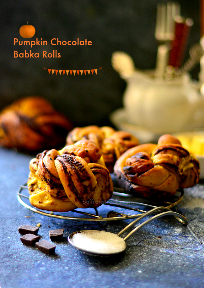 pumpkin chocolate babka rolls
