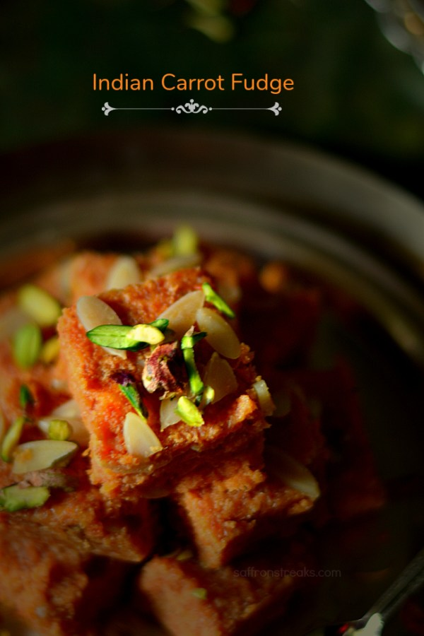Indian carrot halwa fudge