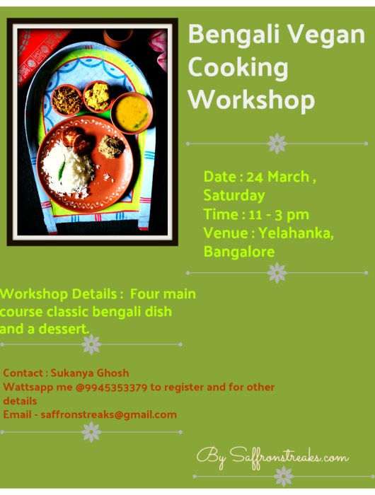 bengali vegan workshop event bangalore