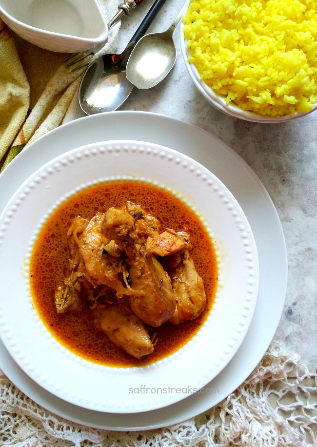 anglo indian country captain chicken curry