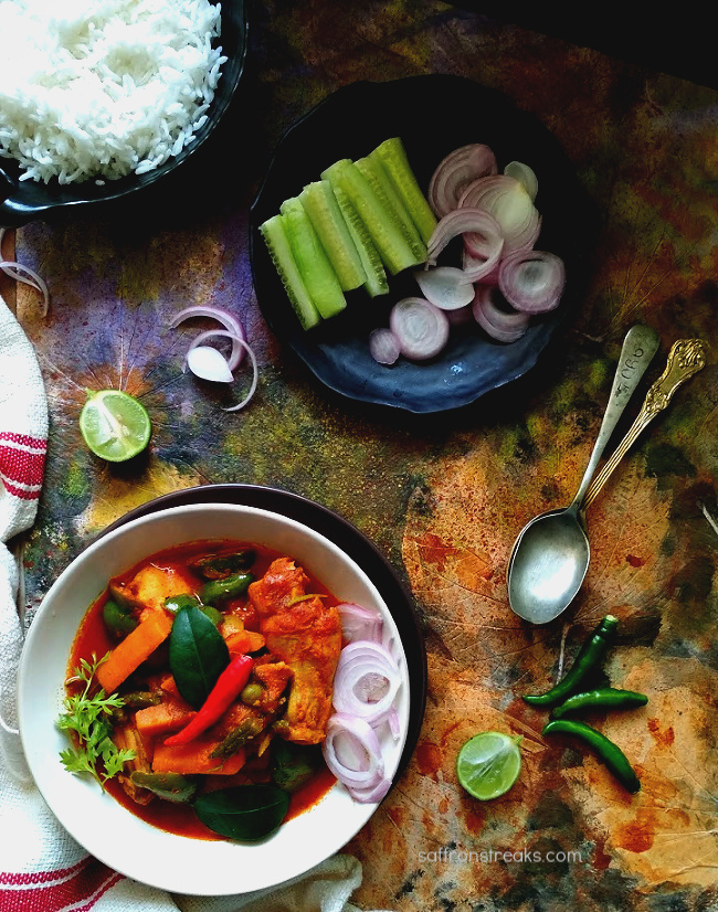mix vegetable chicken curry