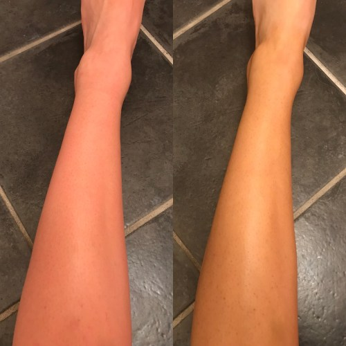 Tan out of ten review instant tan in shimmer