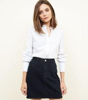 Navy Denim Mini Skirt